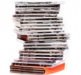 A stack of CD'S